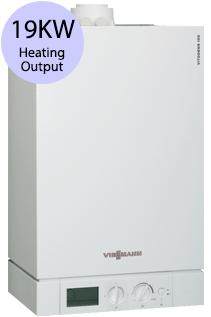 Viessmann Vitodens 100-W Compact WB1B 19 19KW Gas Regular Boiler