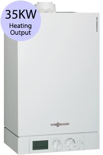 Viessmann Vitodens 100-W Compact WB1B 35 35KW Gas Regular Boiler